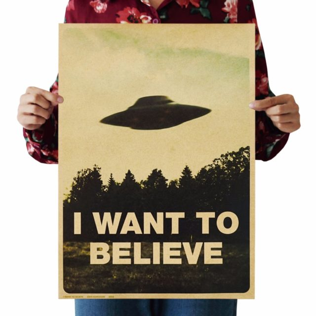 « I Want To Believe »  Poster Vintage