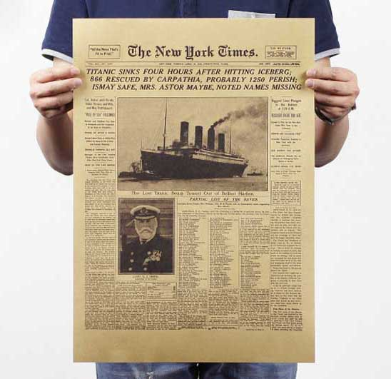 « New York Times » Replica Vintage Poster
