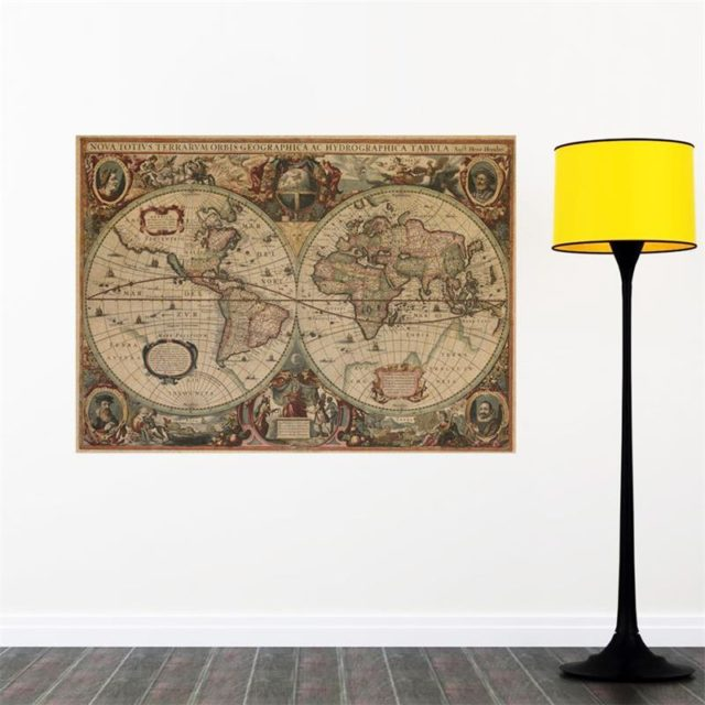 Vintage Decorative Wall Map