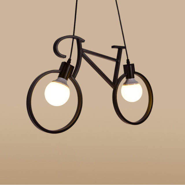 Suspension Vintage Vélo lampe